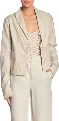 Fifteen-Twenty Shawl Collar Linen Blend Jacket