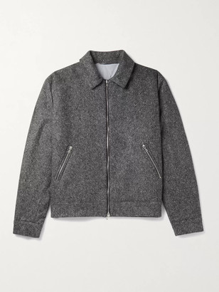 Yoox Net A Porter For The Prince's Foundation YOOX NET-A-PORTER For The Prince's Foundation - Padded Donegal Cashmere Bomber Jacket - Men - Gray