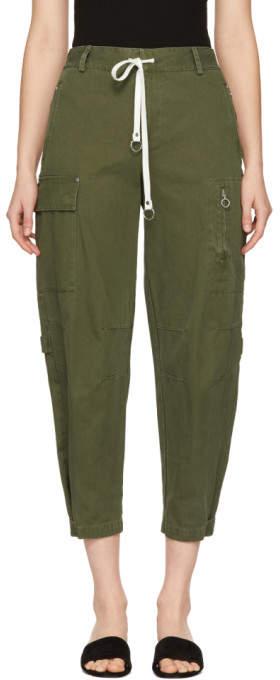 Alexander Wang Green Twill Cargo Pants