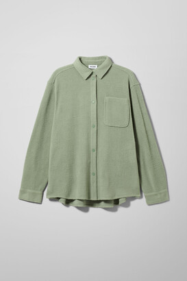 Weekday Bess Fleece Overshirt - Blue