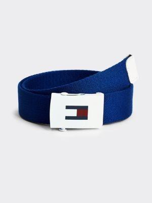 Tommy Hilfiger Kids' Flag Print Roller Buckle Belt