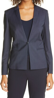 HUGO BOSS Jujube Virgin Wool Blend Blazer