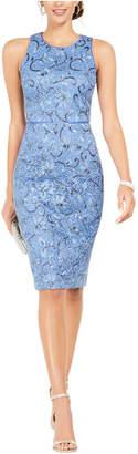 Vince Camuto Petite Cutout-Back Embellished Lace Dress