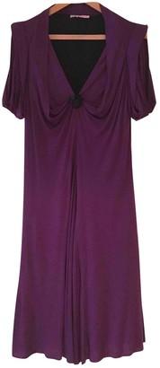 Erotokritos Purple Wool Dress for Women