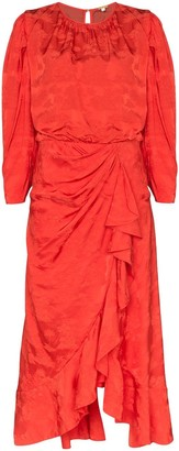 Johanna Ortiz Cuentos Y Relatos ruffled jacquard dress