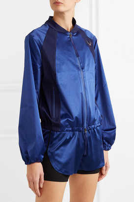 Lucas Hugh Stretch-satin Bomber Jacket - Blue