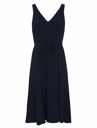 Adrianna Papell Crepe And Chiffon Godet Dress