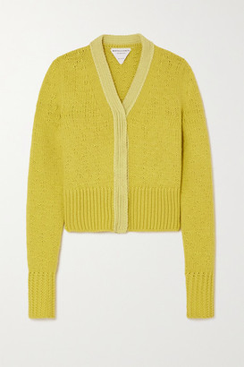 Bottega Veneta Wool And Cashmere-blend Cardigan - Yellow