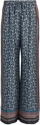 Intermix Clarissa Foulard Silk Trousers