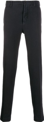 Incotex Colour Block Skinny Trousers