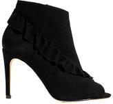 Karen Millen Frill Stiletto Heeled Shoe Boots