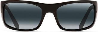 Maui Jim Unisex Peahi Gloss Black/Neutral Grey Lens