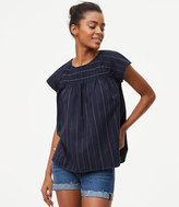 LOFT Pinstriped Sailor Top