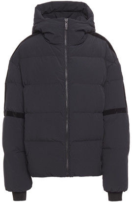 Fusalp Bars Velvet-trimmed Quilted Hooded Ski Jacket