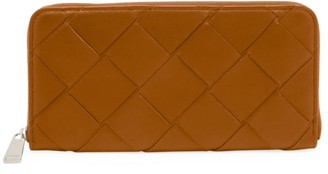 Bottega Veneta Zip-Around Leather Wallet