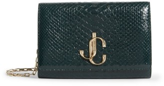 Jimmy Choo Python Varenne Clutch Bag