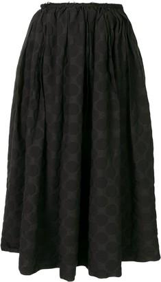 Black Comme Des Garçons High-Waist Polka Dot Skirt