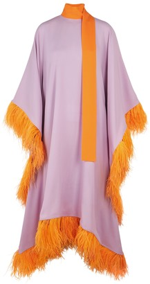 Taller Marmo Casta Diva Stardust Feather-trimmed Dress