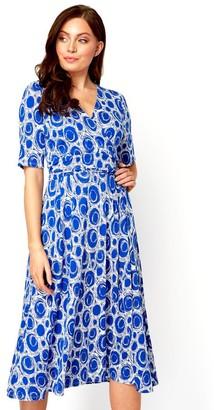 M&Co Roman Originals spot printed fit and flare dress