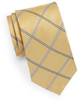 Black Brown 1826 Silk Windowpane Tie