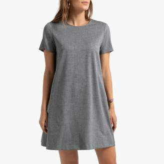 Benetton Short Sleeved Flared Shift Dress with Crew Neck