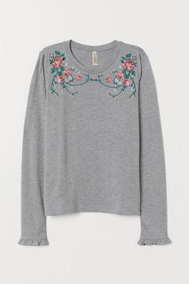 H&M Modal-blend Top - Gray