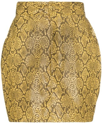 Michael Lo Sordo Snake-Effect Mini Skirt