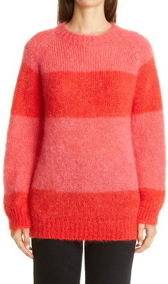 Molly Goddard Noah Stripe Mohair Blend Sweater