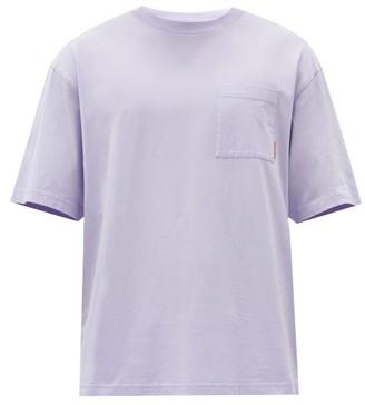 Acne Studios Extorr Logo-tab Cotton-jersey T-shirt - Light Purple