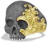 David Yurman Waves Large Skull Ring with Gold