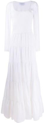 Gabriela Hearst tiered long sleeve dress