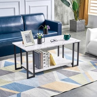 Everly Quinn Constableville Coffee Table with Storage Table Base Color: Black