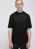 Lanvin black mercerised jersey high collar tee