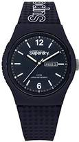 Superdry 'Urban' Quartz Plastic and Silicone Casual Watch, Color:Blue (Model: SYG179UU)