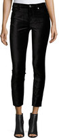 7 For All Mankind The Ankle Skinny Velvet Jeans, Black