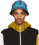 Marni Multicolor Striped Poplin Bucket Hat
