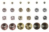 Charlotte Russe Embellished Stud Earrings - 12 Pack