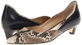 Diane von Furstenberg Alice (Natural Roccia Snake Print/Black Nappa) - Footwear