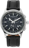 Akribos XXIV Men's Leather Chronograph Swiss Watch
