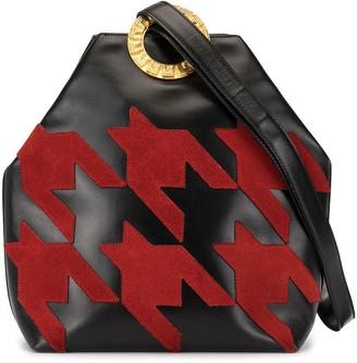 Céline Pre Owned Houndstooth Patched Shoulder Bag