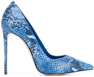 Le Silla Eva 120mm snake-print pumps