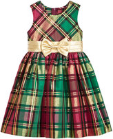 Bonnie Jean Metallic-Plaid Fit & Flare Party Dress, Toddler Girls (2T-4T) & Little Girls (4-6X)