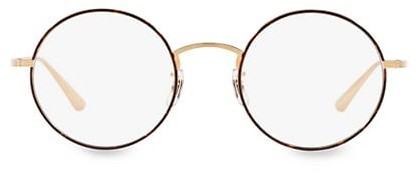 Thumbnail for your product : Oliver Peoples The Row After Midnight 49MM Round Clear Lens Glasses