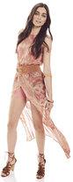 New York & Co. Chiffon Overlay Maxi Dress with Short - Print