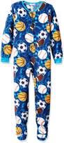 Komar Kids Big Boys' Sports Blanket Sleeper, Blue/Multi