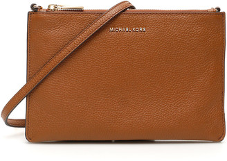 MICHAEL Michael Kors CROSSBODY CLUTCH OS Brown Leather