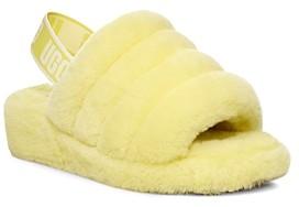 UGG Women's Fluff Yeah Open Toe Fur Slide Slippers