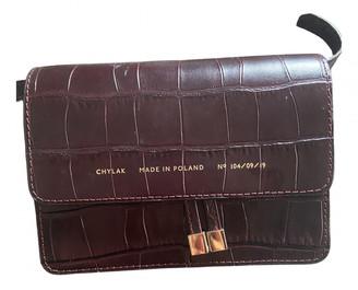 CHYLAK Burgundy Leather Clutch bags
