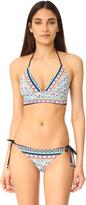 Shoshanna Lace Back Bikini Top