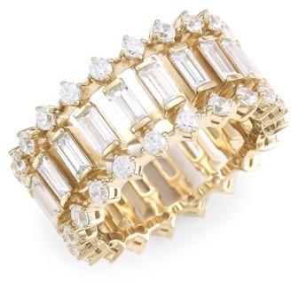 Adriana Orsini 18K Goldplated & Cubic Zirconia Geometric Ring